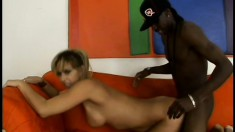 Stacked blonde mom Phyllisha Anne likes her cocks to be black and huge