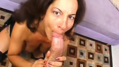 Naughty cougar Melissa is in need of a hard cock hammering her snatch