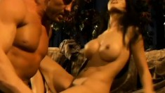 Striking brunette with perfect big boobs Shy Love needs to get fucked in the ass