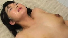 Asian cutie loves to get drilled hard and to get cum all over her face
