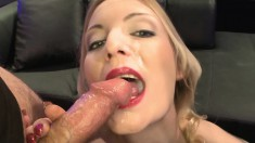 Sensuous young chicks with amazing oral skills are addicted to bukkake