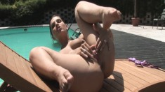 She's a slutty model who loves to bend over like a horny bitch