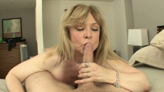 Nina Hartley shows why she's still got it as she sucks dick and fucks