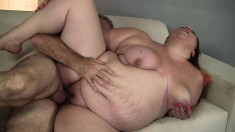 Huge Bella Bendz gets fucked so hard her whole body jiggles in time with it