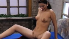 Lesbian lovers Nikoletta and Victoria have fun with a strap-on dildo