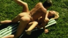 Beautiful young blonde gets pounded hard in every position outside