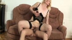 Lustful Blonde Granny In Lingerie Lena Feeds Her Desire For Rough Sex