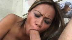 Exotic Milf With Big Tits Has A Young Man Licking And Banging Her Twat