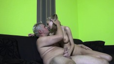 Sexy Slender Blonde With Big Hooters Penelope Has A Passion For Cock