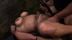 Stacked Nympho Becca Diamond Gets Tied Up And Submits To A Black Stud