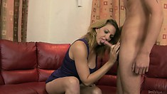 My wife's horny mother sucked my stiff cock and I fucked her hard