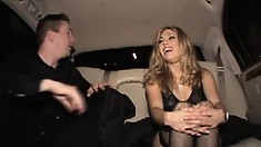 Plump guy has his fun by drilling sexy young Railee in his car