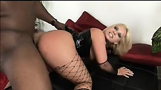 Blonde in slutty outfit gets her ass groped and slapped by a homie