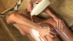 Christina Skye gets showered in cum after some hardcore banging