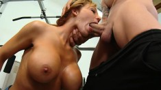 Bootylicious mature whore Nikki is getting her throat fucked