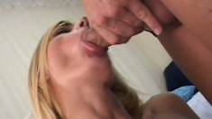 The meaty member of a referee slides deep inside a horny blonde MILF