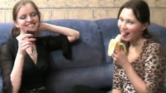 Naughty Young Girls Drink Wine And Then Eat Out Each Other's Pussies