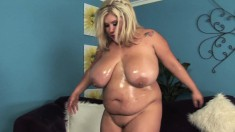 Kacey's huge breasts jiggle with every thrust of dick in her wet cunt