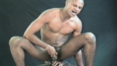 Black gays suck dick and plug ass and one gets a massive load on his face