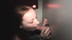 Luscious Gloryhole Teen Christine Displays Her Cocksucking Abilities