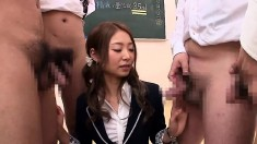 Nice Asian Teen In Cfnm Group Sex Action
