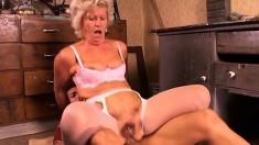 Glamorous Granny In Stockings Loves Anal