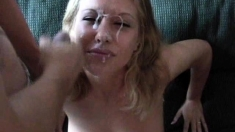 Blonde amateur girlfriend anal with facial cumshot