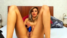 Katerina Is A Sexy Blonde That Loves Playing With Her Pussy