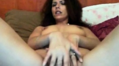 sexy girl rubs one out