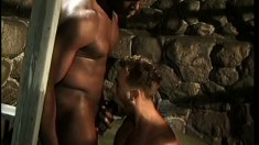 Troy is a Rebel soldier who gets treated rough by his black guard