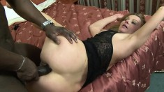 Horny blonde mom Suzy loves to get her ass fucked hard by a black cock